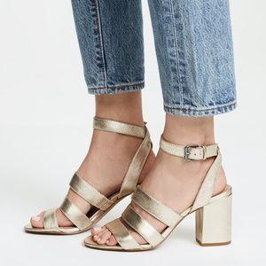 Madewell Bistra 3 Strap Gold Sandal
